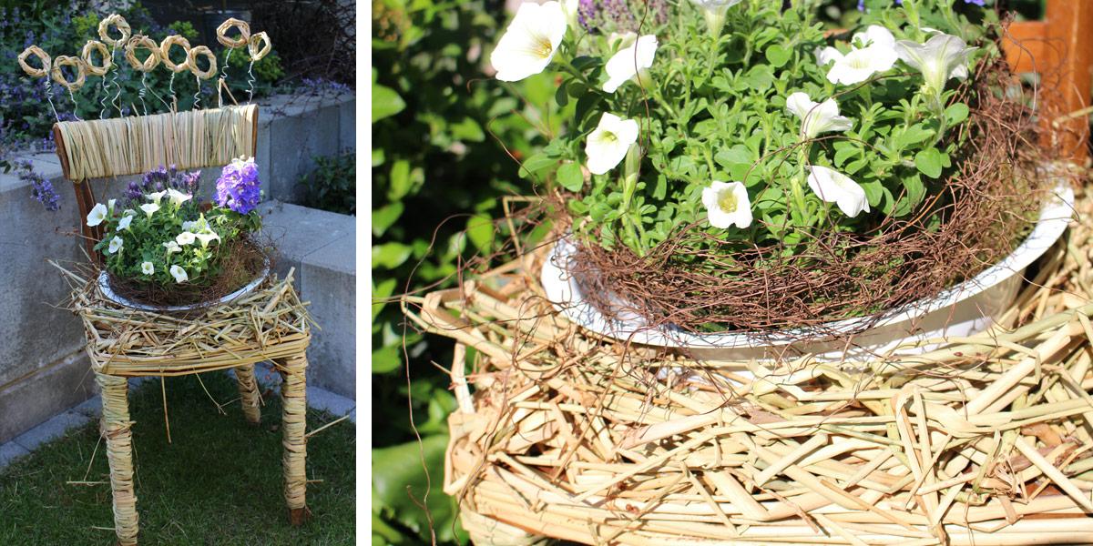 workshop stuhl f r den garten floristik schleiting. Black Bedroom Furniture Sets. Home Design Ideas