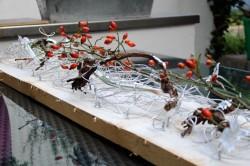 Florales Bild auf Holozbohle